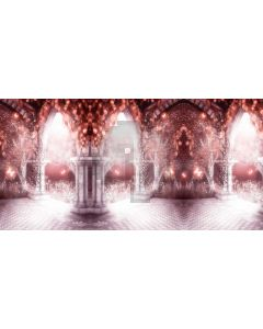 Arch Light Pillar Plant Computer Printed Dance Recital Scenic Backdrop ACP-808