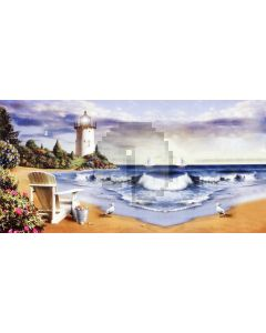 Beach Cloud Plant Chair Computer Printed Dance Recital Scenic Backdrop ACP-818