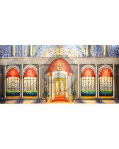 Door Window Pillar House Computer Printed Dance Recital Scenic Backdrop ACP-825