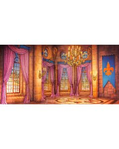 Window Curtain Brick Wall Floor Computer Printed Dance Recital Scenic Backdrop ACP-842