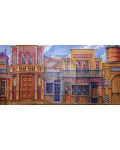 House Door Window Sky Computer Printed Dance Recital Scenic Backdrop ACP-849
