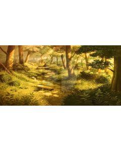 Tree Grass Sunshine Computer Printed Dance Recital Scenic Backdrop ACP-859