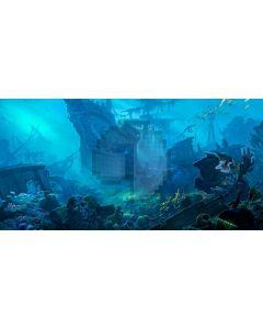 Boat Fish Grass Underworld Computer Printed Dance Recital Scenic Backdrop ACP-868