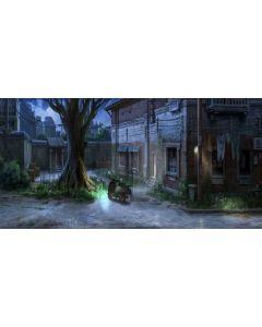 Tree House Light Door Plant Computer Printed Dance Recital Scenic Backdrop ACP-915