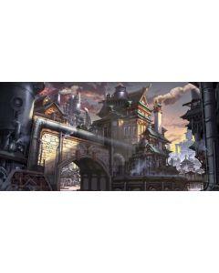Arch Castle Smoke Computer Printed Dance Recital Scenic Backdrop ACP-922