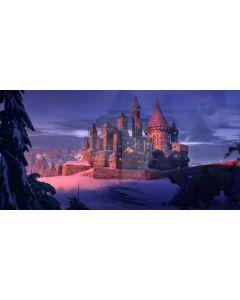 Castle Snow Night Computer Printed Dance Recital Scenic Backdrop ACP-926