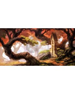 Tree House Computer Printed Dance Recital Scenic Backdrop ACP-929