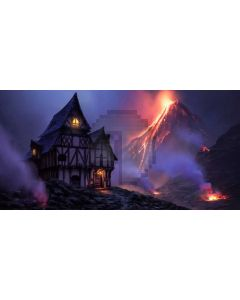 House Fire Light Computer Printed Dance Recital Scenic Backdrop ACP-940
