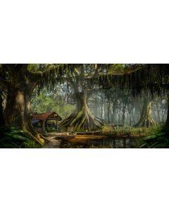 Tree Grass Road Computer Printed Dance Recital Scenic Backdrop ACP-976