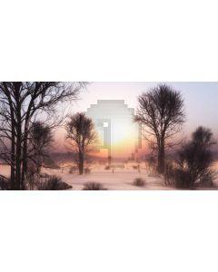 Tree Sunset Grass Computer Printed Dance Recital Scenic Backdrop ACP-988
