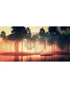 Sea Tree Inverted Image Computer Printed Dance Recital Scenic Backdrop ACP-993