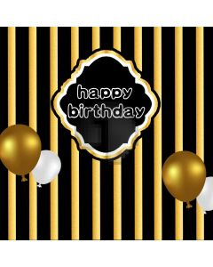 Birthday Balloon Yellow Black Computer Printed Photography Backdrop AUT-051