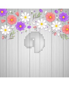 Flower Wood Wall Computer Printed Photography Backdrop AUT-091