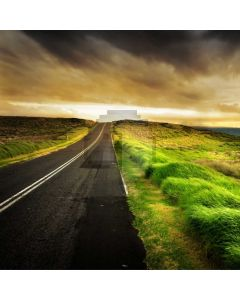 Road Grass Sky Computer Printed Photography Backdrop AUT-131