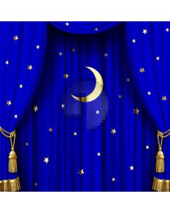 Moon Star Curtain Computer Printed Photography Backdrop AUT-308