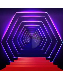 Stair Purple Computer Printed Photography Backdrop AUT-309