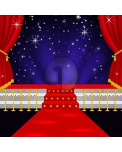 Star Red Carpet Curtain Computer Printed Photography Backdrop AUT-313