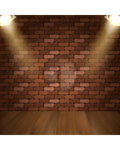 Brick Light Floor Computer Printed Photography Backdrop AUT-433