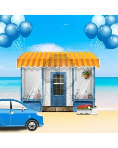 Car House Computer Printed Photography Backdrop AUT-462