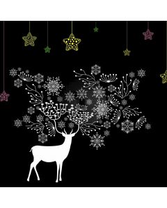 Deer Night Snowflake Computer Printed Photography Backdrop AUT-530