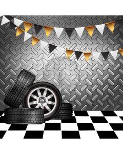 Flag Floor Wheel Computer Printed Photography Backdrop AUT-558