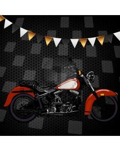 Motorbike Flag Darkness Computer Printed Photography Backdrop AUT-560