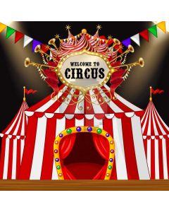 Circus Flag Computer Printed Photography Backdrop AUT-661