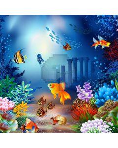 Sea Fish Computer Printed Photography Backdrop AUT-672