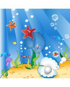 Sea Fish Starfish Computer Printed Photography Backdrop AUT-677