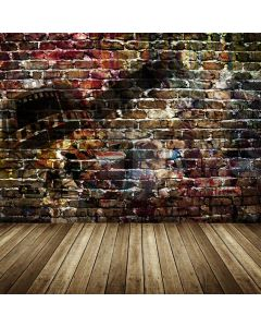Brick Floor Computer Printed Photography Backdrop AUT-686