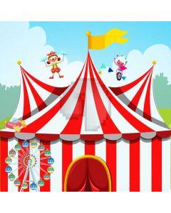 Circus Flag Clown Computer Printed Photography Backdrop AUT-705