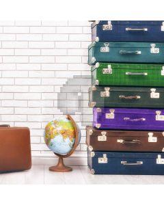 Wall Bag Globe Computer Printed Photography Backdrop AUT-782