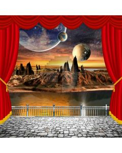 Curtain Moon Computer Printed Photography Backdrop AUT-798