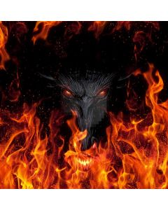 Wolf Fire Computer Printed Photography Backdrop AUT-876