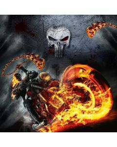 Skull Fire Computer Printed Photography Backdrop AUT-892