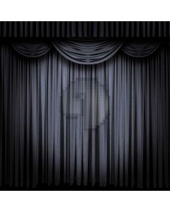 Curtain Black And White Computer Printed Photography Backdrop AUT-900