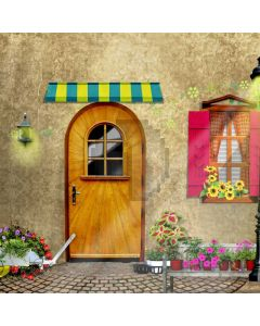 Door Plant Computer Printed Photography Backdrop AUT-916
