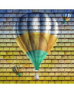 Ballon Brick Wall Computer Printed Photography Backdrop AUT-949