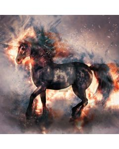 Horse Fire Computer Printed Photography Backdrop AUT-962