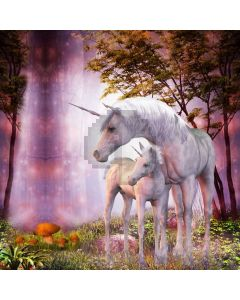 Horse Fall Computer Printed Photography Backdrop AUT-963