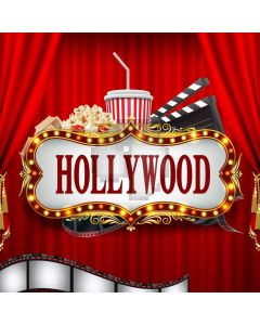 Hollywood Curtain Computer Printed Photography Backdrop AUT-982
