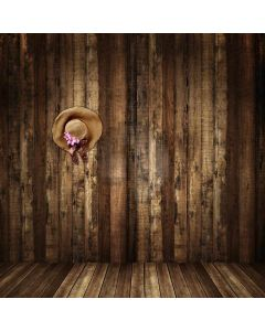 Wooden Wall And Hat Computer Printed Photography Backdrop CM-6719