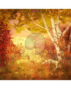Autumn Leaves  Computer Printed Photography Backdrop DGX-175