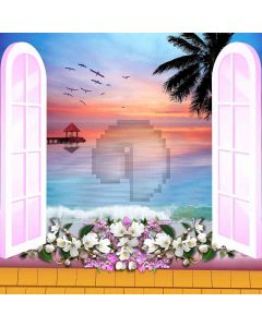 Stunning Scenery Outside The Window Computer Printed Photography Backdrop DGX-380