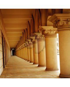 Stone pillars long corridor Computer Printed Photography Backdrop DT-12-81