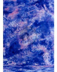 Blue White Tie-Dye Photography Muslin Backdrop Background DT-BJ-ZR0003