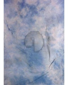 Blue White Tie-Dye Photography Muslin Backdrop Background DT-BJ-ZR0053