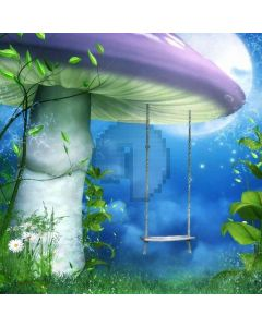 Giant Mushroom Swing Computer Printed Photography Backdrop DT-LP-0067
