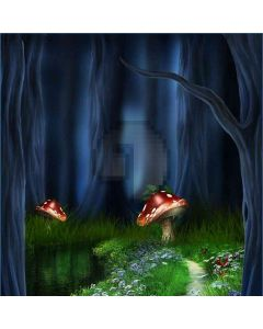 The Mushroom Night  Computer Printed Photography Backdrop DT-LP-0171