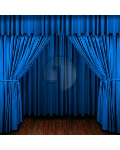 Blue stage curtain Computer Printed Photography Backdrop DT-XU-0210